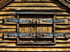 1 Window Closed (Mertonian) Tags: canon hardware cabin closed artistic fear rustic powershot latches closedoff shutout shutin mertonian canonpowershotsx60hs robertcowlishaw sx60hs 1windowclosed