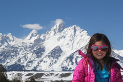 Jovie at the Snake River Overlook 3 (Aggiewelshes) Tags: travel winter snow april wyoming jacksonhole jovie grandtetonnationalpark 2016 gtnp snakeriveroverlook