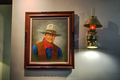 Waning memories (PeterThoeny) Tags: california wall bar night painting restaurant raw indoor grill hdr sunol 3xp photomatix nex6 sel50f18