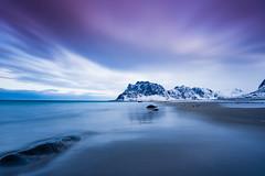 Uttakleiv beach (Lukasz Lukomski) Tags: longexposure sea beach water norway clouds island coast norge sand europa europe scandinavia lofoten woda archipelago morze chmury plaża piasek sigma1020 norwegia wyspa wybrzeże skandynawia uttakleiv lofoty nikond7200 lukaszlukomski