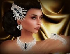 Like a Queen (Eurdice Qork) Tags: portrait woman sexy art classic face fashion photoshop model sl secondlife chic elegant jewels classy jewerly elegance fashionist chopzuey