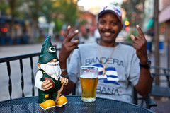 Manuel (local paparazzi (isthmusportrait.com)) Tags: autumn fall beer outdoors person eos 50mm prime football interesting gnome pod aperture dof bokeh f14 nfl grain stranger charm iso human portraiture greenbay usm madisonwi noise statestreet ef charmed iso1600 greenbaypackers goodluckcharm 2015 greenandyellow footballseason 50mmf14usm 100strangers luckygnome danecountywisconsin canon5dmarkii localpaparazzi redskyrocketman lopaps isthmusportrait 608strangers