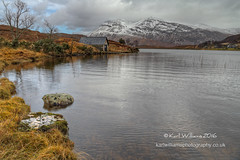 Stack Boathouse (Shuggie!!) Tags: winter snow mountains water clouds landscape scotland rocks williams shoreline hills karl grasses sutherland hdr gorse boathouses zenfolio karlwilliams