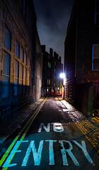 No entry (magnusson.ingemar) Tags: street uk winter storm night landscape scotland photo cityscape britain aberdeen