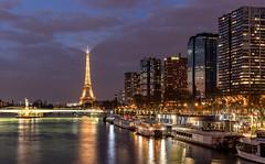 Paris, Tour Eiffel - Quartier Grenelle (Didier Ensarguex) Tags: paris canon latoureiffel 75 2470l28 pontdegrenelle lastatuedelalibert quartierbeaugrenelle 5dsr didierensarguex