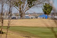 Tamron 180:  AF Test (brev99) Tags: airplane bluesky tulsa d7100 ononesoftware tamron180f35 perfecteffects9 robertjonesairport southlakesgolfcourse