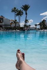 nice life (Fjola Dogg) Tags: park vacation holiday feet water pool canon island hotel spain europe toes toe legs palm palmtrees tenerife toenails evropa sundlaug gisting parquesantiago3 evrpa plmatr canonpowershotg7x canong7x