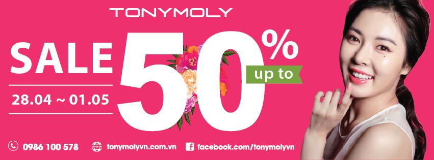 Mỹ phẩm Tonymoly Giảm giá chào hè đến 50% trên toàn hệ thống
