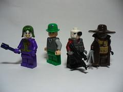 Gotham Vilains (Sebastian Weird) Tags: dc scarecrow batman joker gotham riddler vilains deadshot