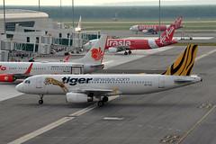 Tiger Airways 9V-TAU (Howard_Pulling) Tags: camera photo airport nikon aviation picture malaysia kualalumpur airlines kl klia howardpulling d5100