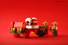 Nian - Chinese Lion Dance (kosbrick) Tags: china city classic vintage indonesia town dance dragon lego chinese lion newyear moc barongsai