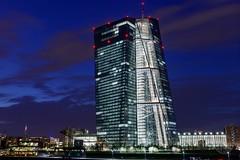 EZB in Frankfurt at night (MrMatchPhoto) Tags: city skyline architecture night frankfurt ecb finance ezb