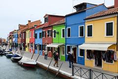 Burano : les maisons colores. (http://visiteursdumonde.com) Tags: venice venise venezia burano