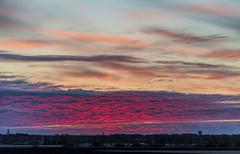 Purple Sky above A Little Town (Jyrki Liikanen) Tags: sky sunrise countryside early purple earlymorning redsky sunrays sunbeams skylovers skycapture nikonphotography