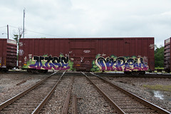 (o texano) Tags: bench graffiti texas houston trains nise freights benching nerow