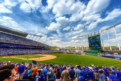 Kauffman Stadium - Kansas City (Jonathan Tasler) Tags: grass clouds baseball kansascity missouri royals kauffmanstadium