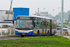 """[Buses in Beijing] Youngman Neoplan JNP6180G """"Centroliner"""" BPT #B94077 Line BRT-1 at the Temple of Heaven (tonyluan1990) Tags: beijing  publictransport brt iveco bendybus  neoplan busrapidtransit  lowfloor articulatedbus   thetempleofheaven  centroliner  eurorider cj6180gch jnp6180g beijingpublictransportholdingsltd lowentry    bisectionbus cbciveco     youngmanneoplan beijingpublictransport"""