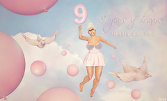 My Rezzday :D (♛ Baronne ♛) Tags: pink beauty french fun born flying 3d funny dove avatar january dream young nanny sl creation photograph secondlife 10th mamie granny neuf fr ans 2007 2016 grandmere rezz rezzday