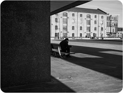 Light and shade.. (kevingrieve610) Tags: street london fuji outdoor pavement docklands xm1 xf27mm