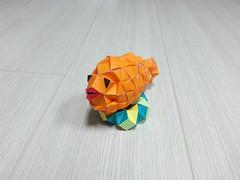 The Fish (hyunrang) Tags: fish origami lips deco hur polyhedron kwhur