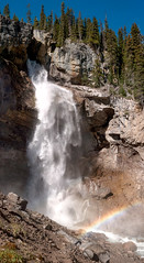 Waterfall in Banff National Park (Steve AM) Tags: canada canadianrockies rockies canadian rockymountains moosetour summer2013 northamerica