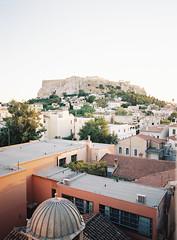 Acropolis View in Athens (jessicalyonsphoto) Tags: travel art film photography photo lab fuji photographer fine blogger athens greece richard acropolis 400h traveleurope travelgreece pentax645n