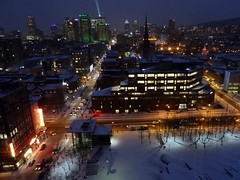 View of downtown Montreal at night (chibeba) Tags: city winter vacation urban holiday canada downtown view montral quebec montreal january panoramic northamerica qc 2016 citybreak