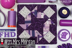 gnomeangel-farmers-wife-1930-block-71-mrs-morgan (gnomeangel) Tags: modern quilt quilting patchwork tutorial farmerswife fussycutting gnomeangel fussycuttersclub farmerswife1930