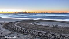 huellas (Tombobadil) Tags: sea naturaleza nature sunrise mar spain amanecer sunsetsunrise elprat