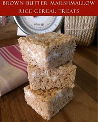 "Here's the recipe so many of you have been asking me for:  Brown Butter Marshmallow Rice Cereal Treats.  These are just as simple to make as the standard fare, but packed with a big flavor that will keep you coming back for more.  I hope that you'll love • <a style=""font-size:0.8em;"" href=""http://www.flickr.com/photos/54958436@N05/24467549671/"" target=""_blank"">View on Flickr</a>"
