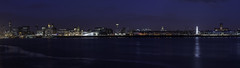 Liverpool_Skyline (daveandrewhicks) Tags: city panorama building green tower wheel skyline night liverpool radio river three dock cathedral albert echo arena liver mersey graces