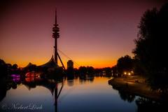 Sonnenaufgang ber Mnchen (lonobi) Tags: mnchen bayern deutschland flickr sonnenaufgang olympiapark fz1000 panasonicfz1000 orteundsehensewrdigkeiten