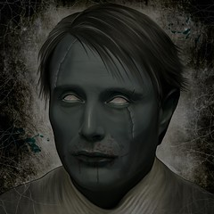 Mads Mikkelsen as Zombie (Onurah Art) Tags: illustration photomanipulation painting zombie digitalart darkart madsmikkelsen iphoneart onurah