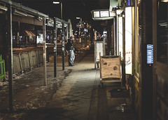 food court (berberbeard) Tags: street winter urban night germany photography fotografie nacht bokeh linden hannover f2 45mm limmerstrasse manuallens minoltamd itsnotatrick berberbeard berberbeardwordpresscom ilce7m2