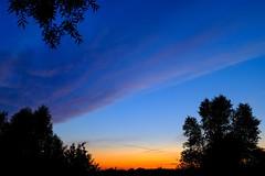 Une nuit paisible... (soothe_my_soul) Tags: blue sunset sky color tree nature night sunrise evening countryside fuji belgium belgique dusk country bleu ciel fujifilm bluehour paysage campagne arbre fujinon couleur coucherdesoleil flanders flandres heuvelland vlaanderen flandre eveningcolors heurebleue xphotographer fujifilmxseries x100t fujifilmx100t