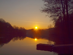 steg im wasser P2277313 (hans 1960) Tags: trees light sky sun sol nature water sunrise landscape outside golden licht soleil spring pond wasser outdoor natur himmel landschaft sonne spiegelung mirrow frhling steg weiher
