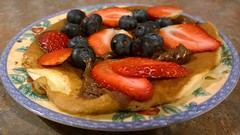 Pancake Time (mcginley2012) Tags: cameraphone food dessert strawberry berries blueberry nutella pancake pancaketuesday lumia1020