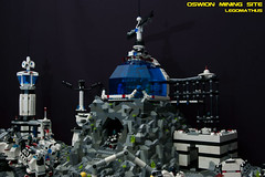 10_OSWION_Mining_Site (LegoMathijs) Tags: expedition layout wire mod energy power lego crystal space el vehicles astronauts modular planet scifi 20 functions mindstorms drill containers grapple spaceships miners moc nxt ores legomathijs oswion