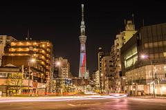 Tokyo Skytree / STAR WARS:THE FORCE AWAKENS (703) Tags: japan night tokyo starwars cityscape nightscape   nightscene nightview asakusa   speciallighting  komagatabridge  tokyoskytree pentaxk5 da18135mm