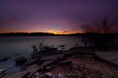 Holly Park Sunset (John Cothron) Tags: longexposure winter sunset sky usa cloud sun cold color nature rock digital georgia landscape concrete us unitedstatesofamerica gainesville scenic windy lakeshore thesouth dixie 15mm hollypark eveninglight lakelanier carlzeiss hallcounty americansouth southernregion 35mmformat johncothron canoneos5dmkii southatlanticstates leefiltersystem cothronphotography 3stopneutraldensityfilter 3stopreversegraduatedfilter lee90nd singhray9reversegrad zeissdistagont2815mmze ©johncothron img12768160304 hollyparksunset