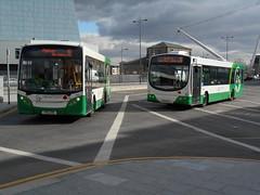 Newport Bus 301 and 105 (Welsh Bus 16) Tags: man newport wright 105 meridian 301 adl enviro200 newportbus cn60fbl yx11crk