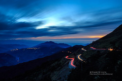 () Tags: road sunset sky cloud mountain nature fog canon landscape high taiwan              ef1635mmf28l 1dx ef70200mmf28lis  mthehuan   3000 cartail