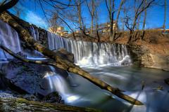 Chester Creek Dam - Glen Mills, PA (ADW44) Tags: longexposure water waterfall pennsylvania dam daytime gitzo rrs digitalblend delawarecounty chestercreek leefilters canon5dmarkiii 1635f4 allenscamera