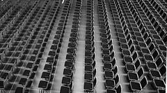 empty chairs (rainerralph) Tags: blackandwhite germany dresden chairs sachsen ostern simple stuehle albertinum emptychairs olympusomdem1 neuesalbertinum