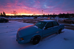 061/366 (local paparazzi (isthmusportrait.com)) Tags: pink blue winter sunset red snow cold car outdoors iso800 evening frozen buick amazing twilight pod parkinglot pretty raw purple zoom dusk awesome parking grain vehicle chilly parked madisonwi noise epic 2016 canonraw cr2 isthmus stillwinter easttownemall danecountywisconsin 366project photoshopelements7 canon5dmarkii pse7 localpaparazzi redskyrocketman lopaps tokina1628f28 isthmusportrait