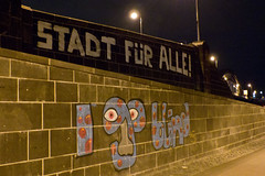 Stadt für alle_I go blind (penjelly) Tags: night nacht frankfurt stadt hafen ost alle nachts ezb osthafen montez honsellbrücke stadtfüralle