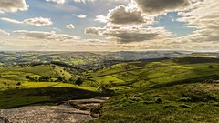 Higger Tor View.......... (klythawk) Tags: blue brown sunlight white black green clouds landscape grey rocks derbyshire peakdistrict sony fields burbage lightrays hathersage 2470mm higgertor klythawk a7ll