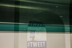 #Tweet that Motion Blur (ROYEARS) Tags: street city people motion blur paris art canon underground subway eos 50mm waiting metro photos pics motionblur april wait m11 texting tweet t3i aprilfool tlgraphe 600d ligne11 twitter 1stapril 1eravril