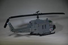 Huey: Rear (LoganLego) Tags: america paint lego painted military helmet vietnam huey helicopter viet american mitchel m16 brody helmets freeform vietcong m60 brickarms helmetstrap legomodern legovietnam citizenbrick camolego