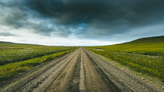 31082015-IMG_5980 (Nicola Pezzoli) Tags: road trip travel summer sky green nature grass clouds landscape iceland offroad cloudy horizon infinite gravel icelandic snaefellsnes ìsland